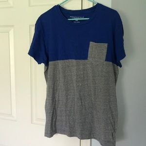 Blue and Gray Tee